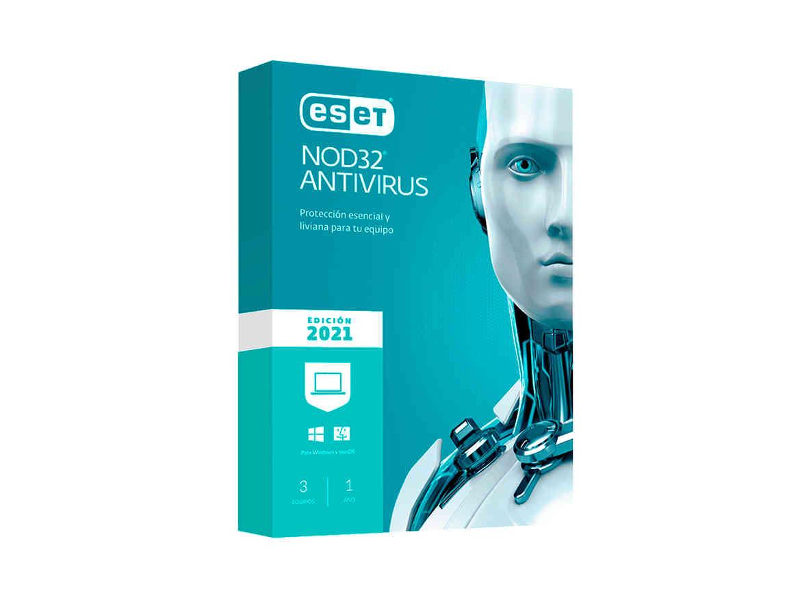 ANTIVIRUS ESET NOD 32 ( S11010188 ) 2021 | 3 PCS