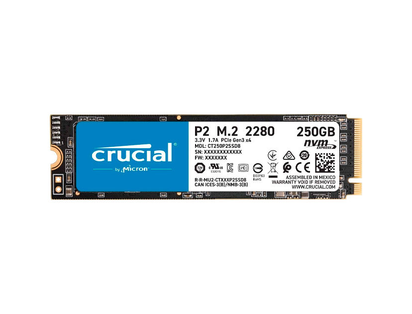 SSD  M.2 SOLIDO CRUCIAL P2 2280 250GB ( CT250P2SSD8 )