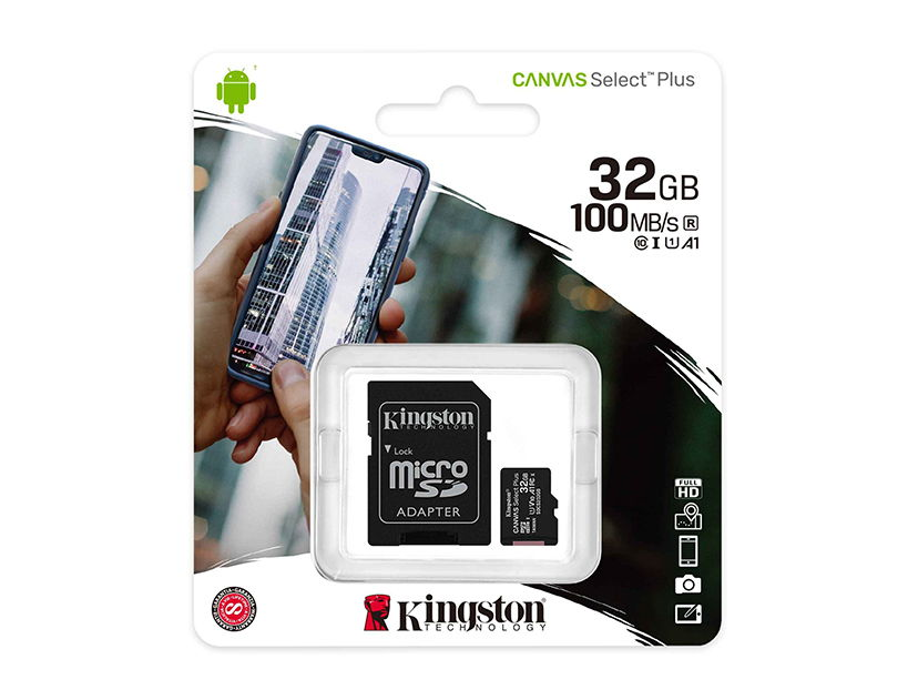 MEM. MICRO SD KINGSTON 32GB ( SDCS2/32GB ) C/ CARD ADAPTADOR