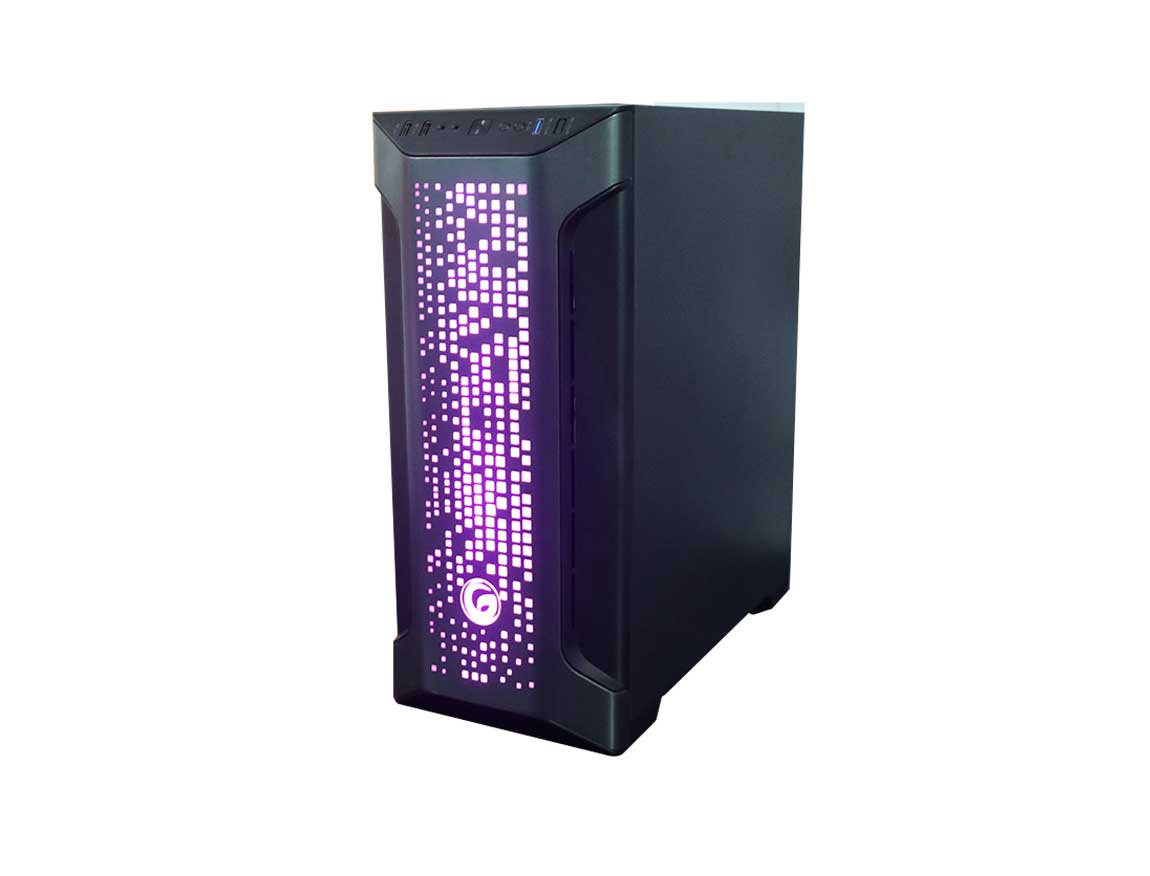 CASE GAMBYTE EXTINTION ( EXTINTION ) S/ FUENTE | NEGRO | 1 PANEL VIDRIO | LED - ARGB