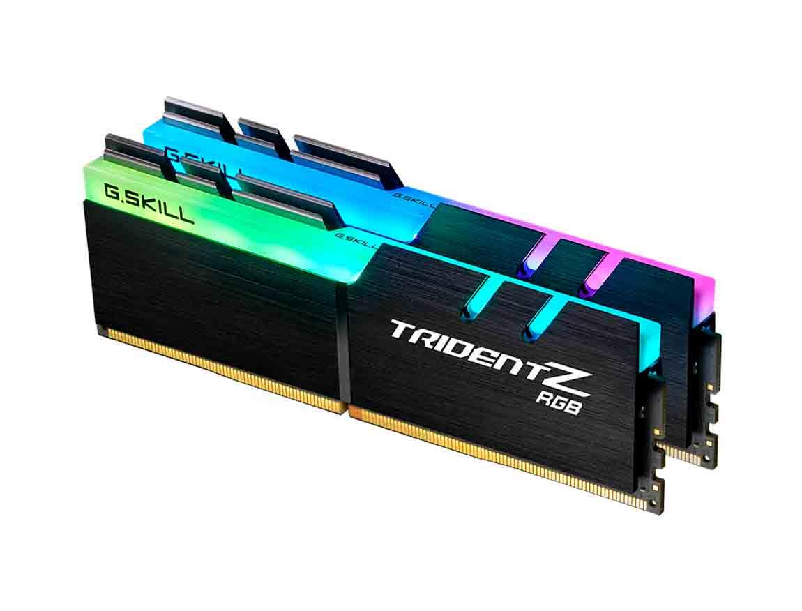 MEM. RAM G.SKILL TRIDENT Z DDR4 16GB(2X8)/3000 ( F4-3000C16D-16GTZR ) NEGRO | LED- RGB