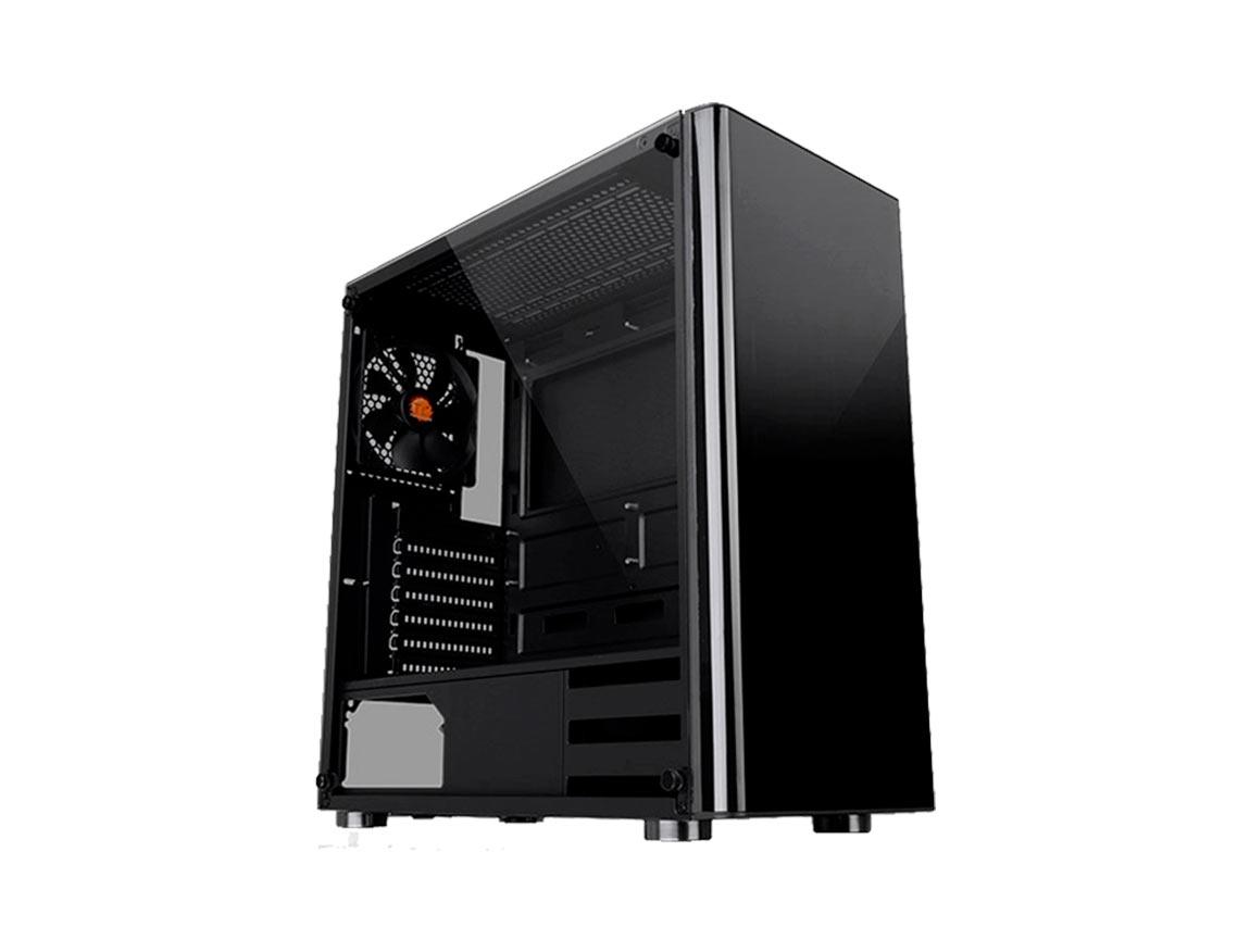 CASE THERMALTAKE V200 TG ( CA-3K8-50M1WU-00 ) 500W |  NEGRO | 1 PANEL VIDRIO