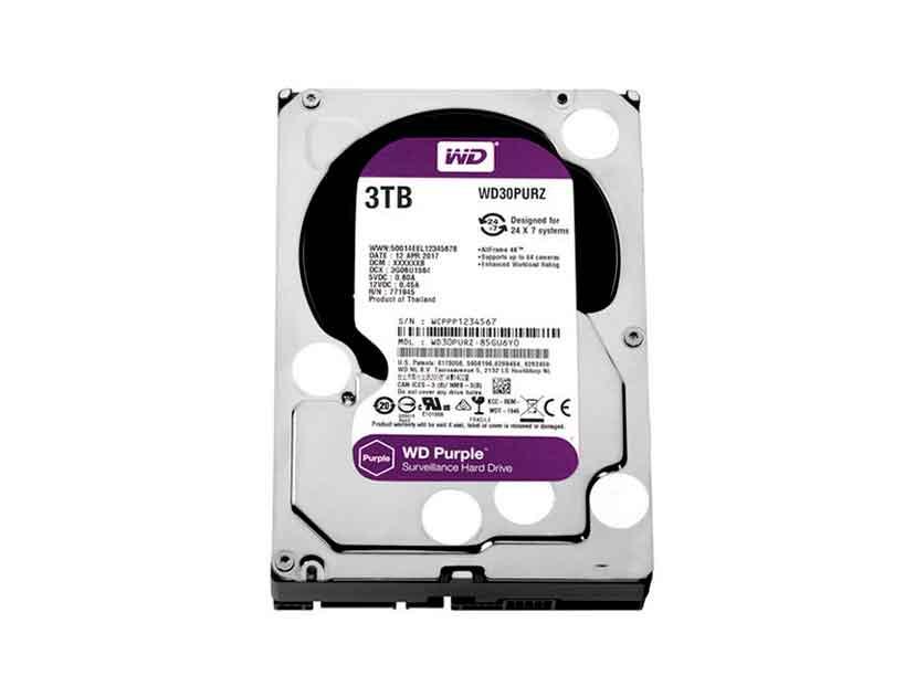 HDD WESTER DIGITAL 3TB ( WD30PURZ ) PURPURA | 64MB | 5400RPM