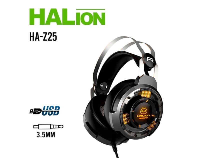 AURICULAR HALION ( HA-Z25 ) GAMING   NEGRO C/ PLOMO   LED -MULTICOLOR