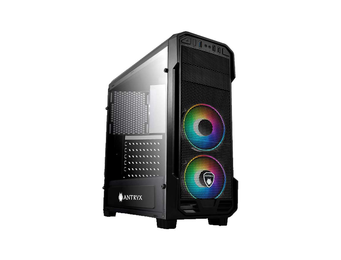 CASE ANTRYX RX-350 ARGB ( AC-RX350K-ARGB ) S/ FUENTE | NEGRO | 1 PANEL VIDRIO |