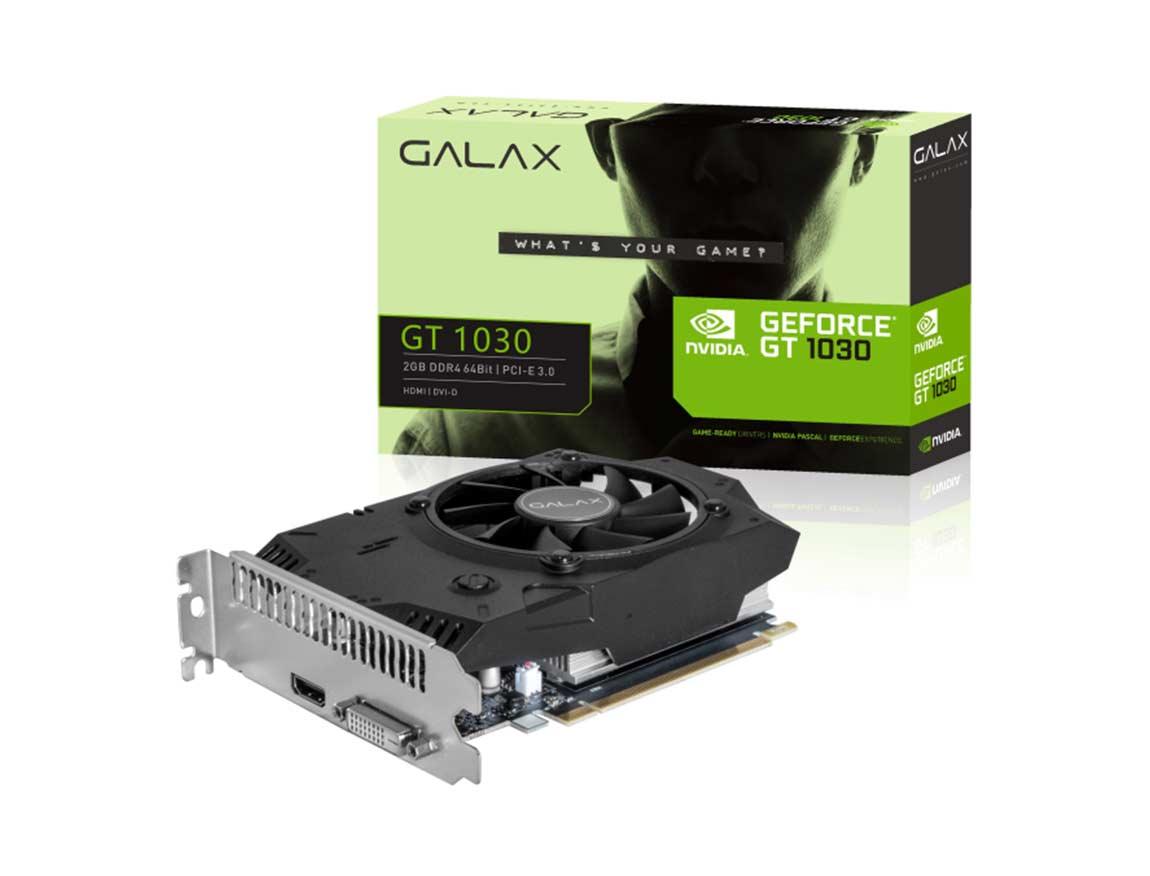 TARJ. VIDEO GALAX GEFORCE GT 1030 2GB DDR4 ( 30NPG4HV00AB) 64 BIT