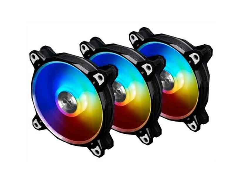 COOLER PARA CASE + MODULO DE CONTROL LIAN LI BORA DIGITAL ( BR DIGITAL-3R B ) PACK 3 | NEGRO | 120MM | LED -RGB