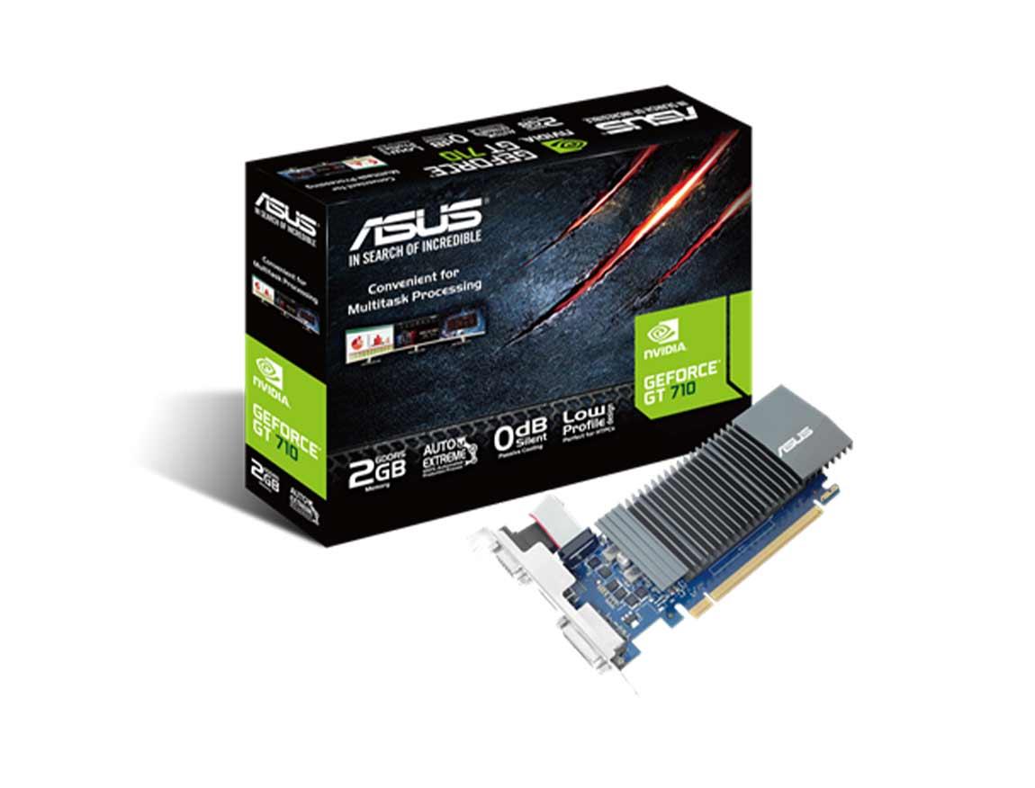 TARJ. VIDEO ASUS GEFORCE GT 710 2GB DDR5 ( GT710-SL-2GD5-CSM ) 64 BIT