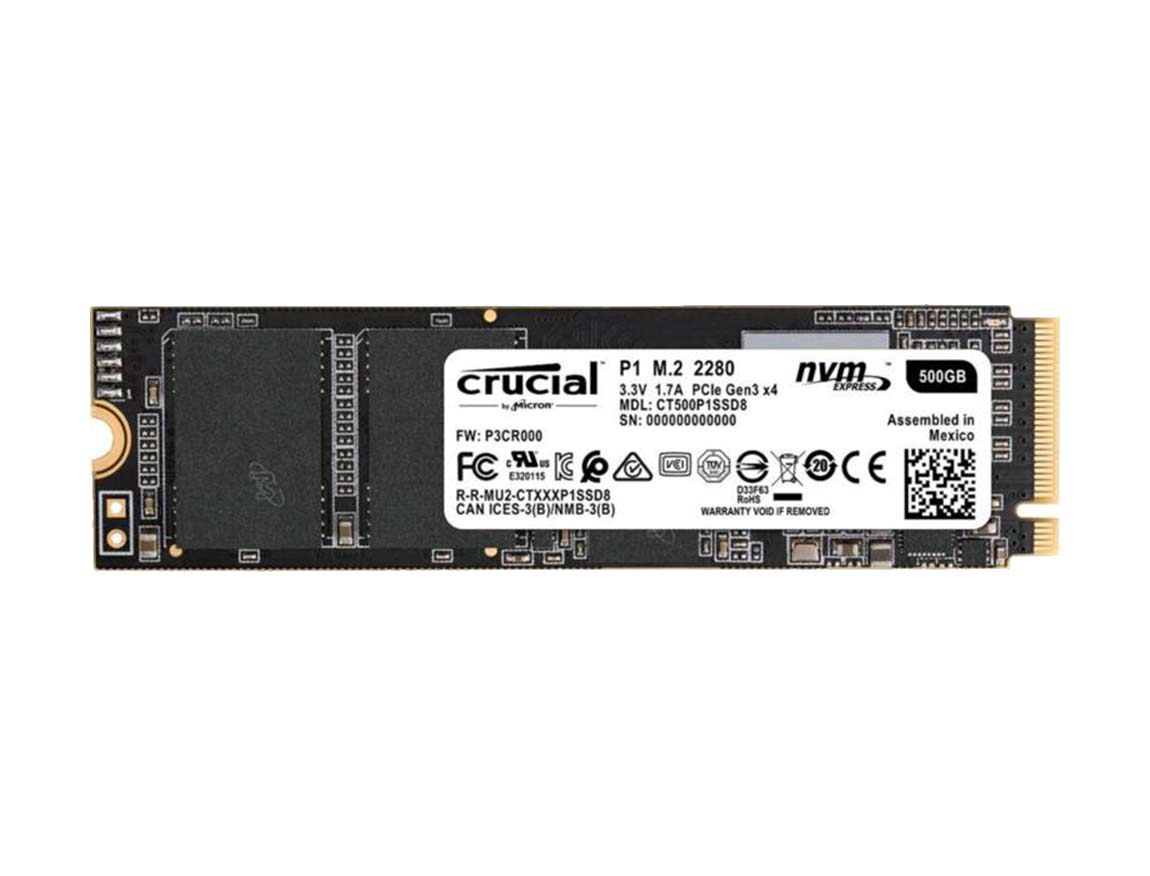 SSD  M.2 SOLIDO CRUCIAL P1 500GB ( CT500P1SSD8 ) 80MM