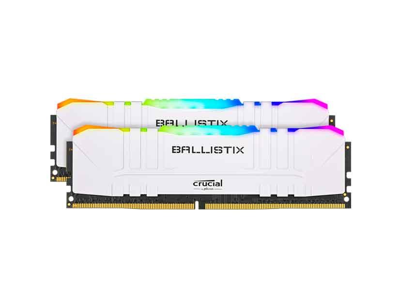 MEM. RAM CRUCIAL BALLISTIX DDR4 32GB(2X16)/3200 ( BL2K16G32C16U4WL ) BLANCO | LE