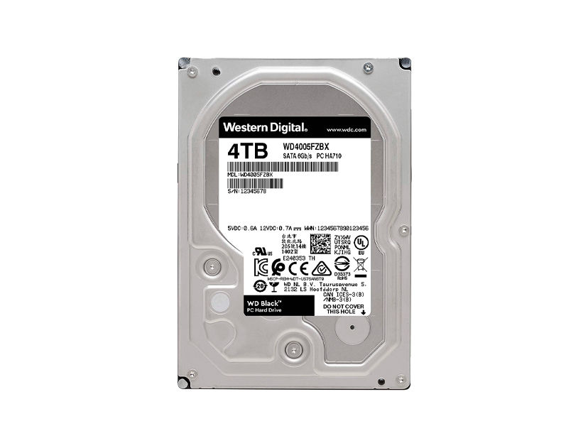 HDD  WESTER DIGITAL 4TB ( WD4005FZBX ) NEGRO | 256MB | 7200RPM