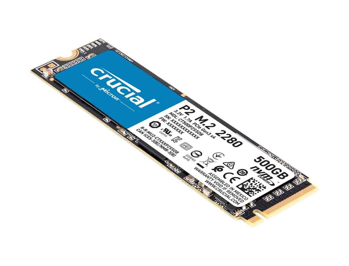 SSD  M.2 SOLIDO CRUCIAL P2 500GB ( CT500P2SSD8 ) 80MM | NVME