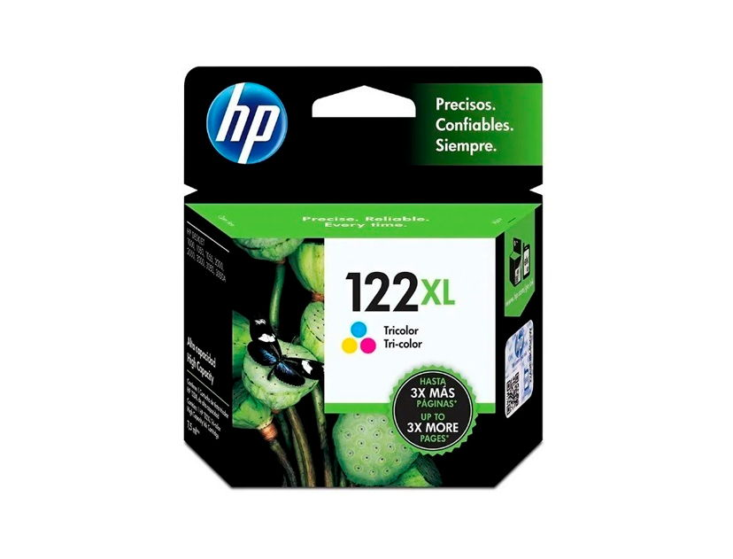 CARTUCHO HP  122XL ( CH564HL ) TRICOLOR - 1000 / 2050 / 3000 +