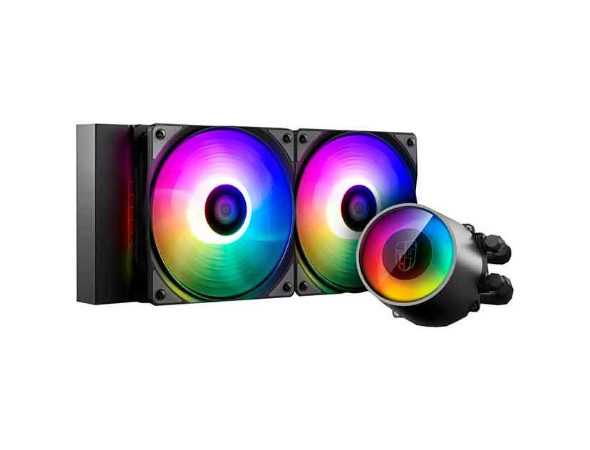 SISTEMA DE ENFRIAMIENTO LIQUIDO GAMER STORM CASTLE 240RGB V2 ( DP-GS-H12AR-CSL240V2 ) LED- RGB