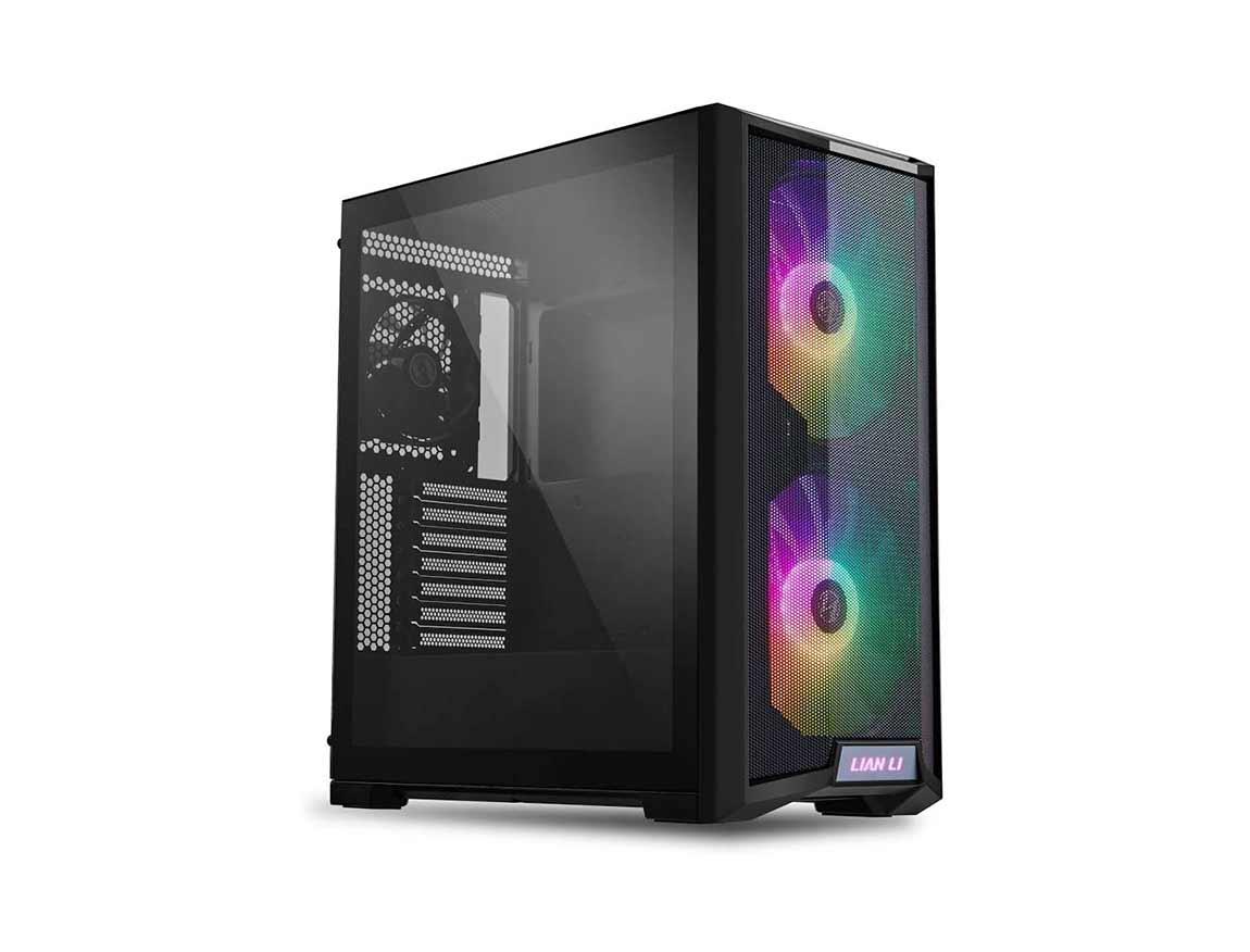 CASE LIAN LI LANCOOL 215 X BLACK ( LANCOOL 215 X BLACK  ) S/ FUENTE | NEGRO | 1 PANEL VIDRIO | LED - ARGB