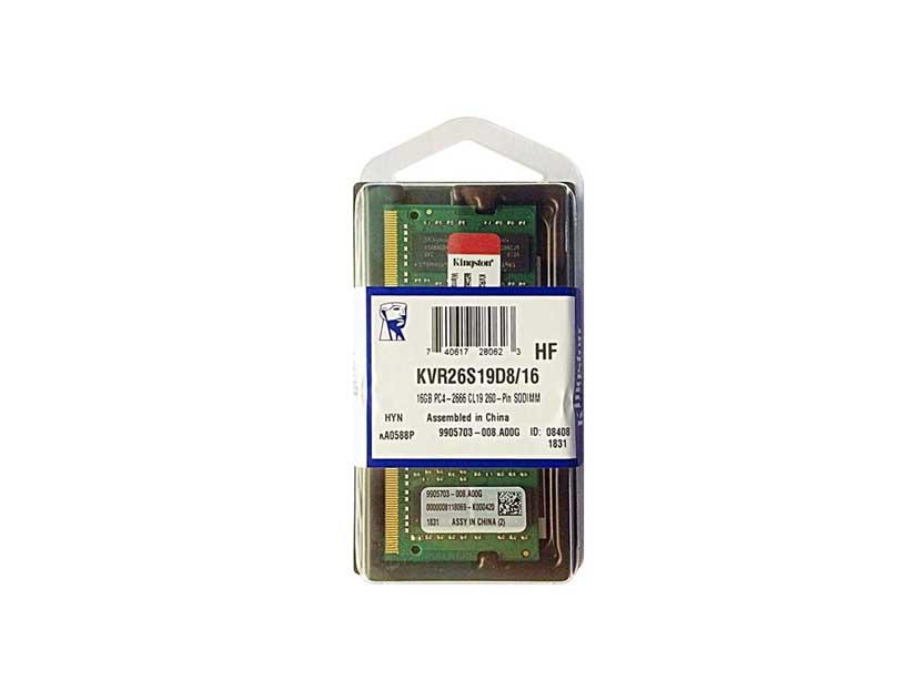 MEM. SODIMM KINGSTON DDR4 16GB/2666 ( KVR26S19D8/16 )