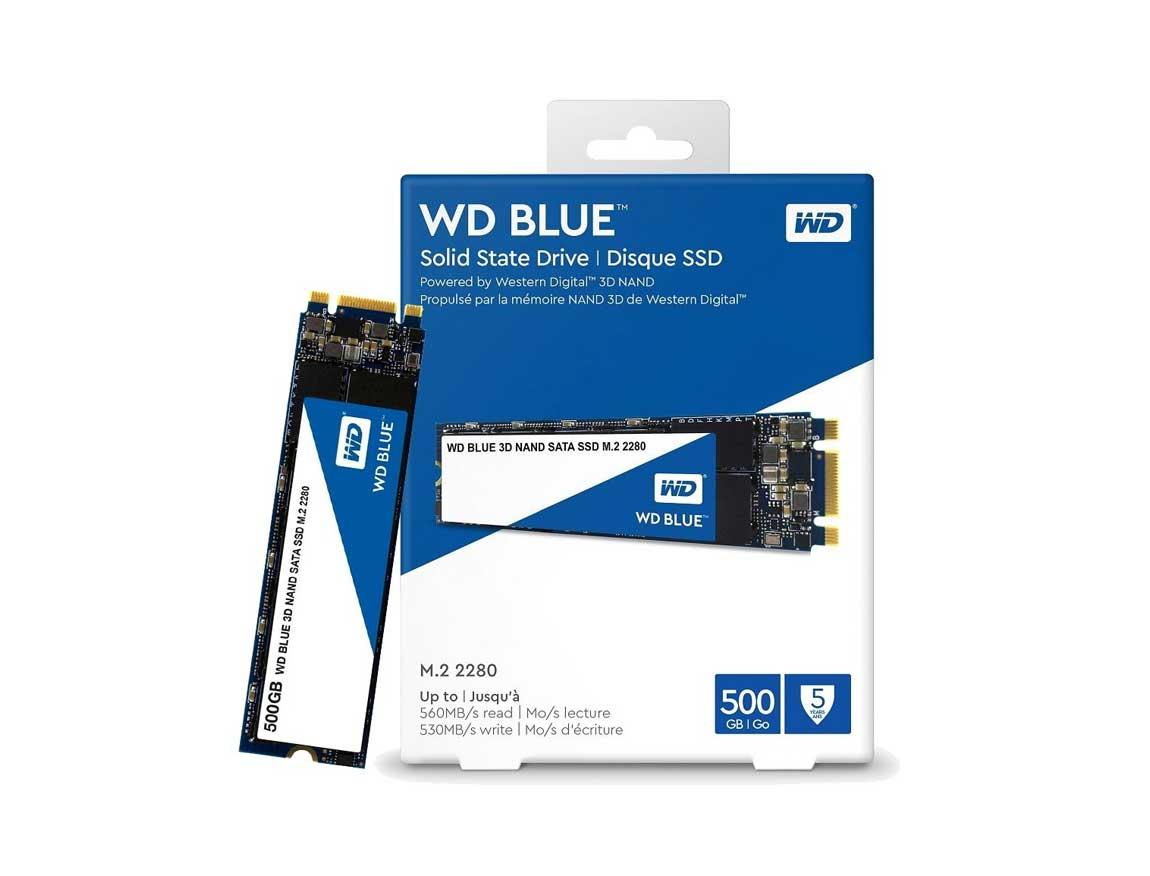 SSD  M.2 SOLIDO WESTER DIGITAL 2280 500GB ( WDS500G2B0B ) AZUL | 80MM