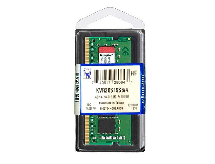 MEM. SODIMM KINGSTON DDR4 4GB/2666 ( KVR26S19S6/4 )