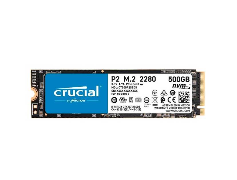 SSD M.2 SOLIDO CRUCIAL P2 2280 500GB ( CT500P2SSD8 )