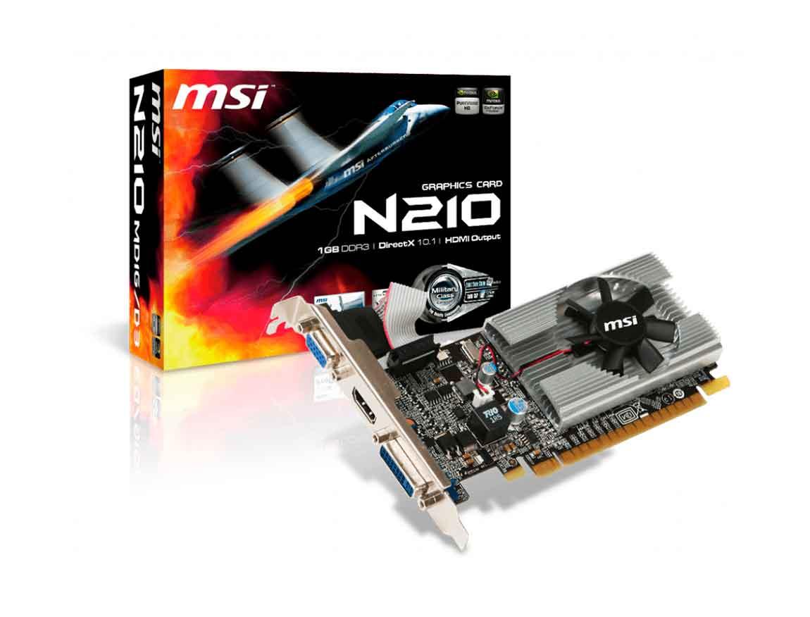 TARJ. VIDEO MSI GEFORCE 210 1GB DDR3 ( N210-MD1G/D3 ) 64 BIT