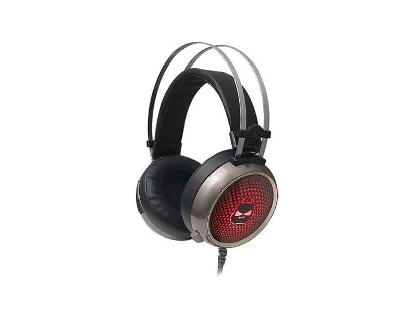 AURICULAR HALION ( HA-X60 ) GAMING | NEGRO C/ PLATA  | LED- 7 COLORES