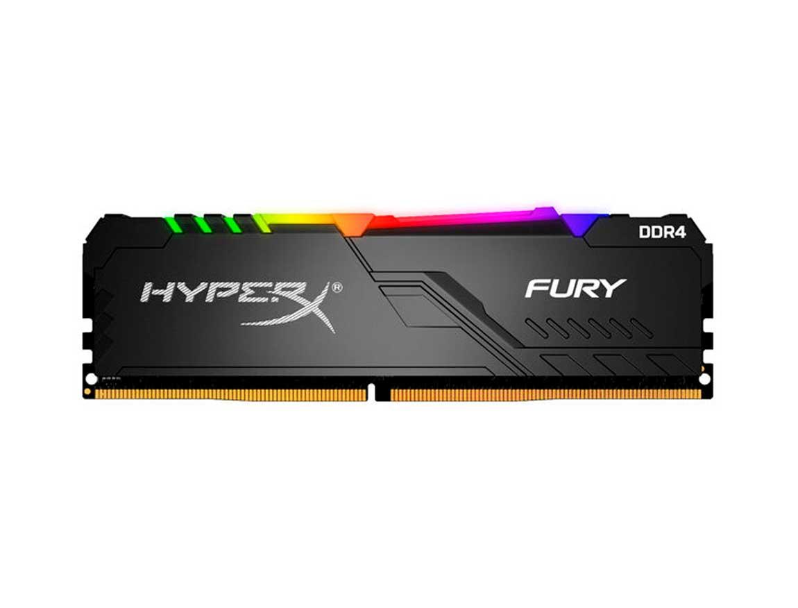 MEM. RAM HYPERX FURY DDR4 16GB/3000 ( HX430C16FB4A/16 ) NEGRO | LED - RGB