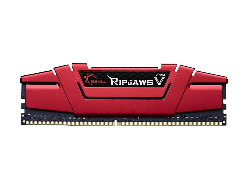 MEM. RAM G.SKILL RIPJAWS V DDR4 8GB/3000 ( F4-3000C16S-8GVRB ) ROJO