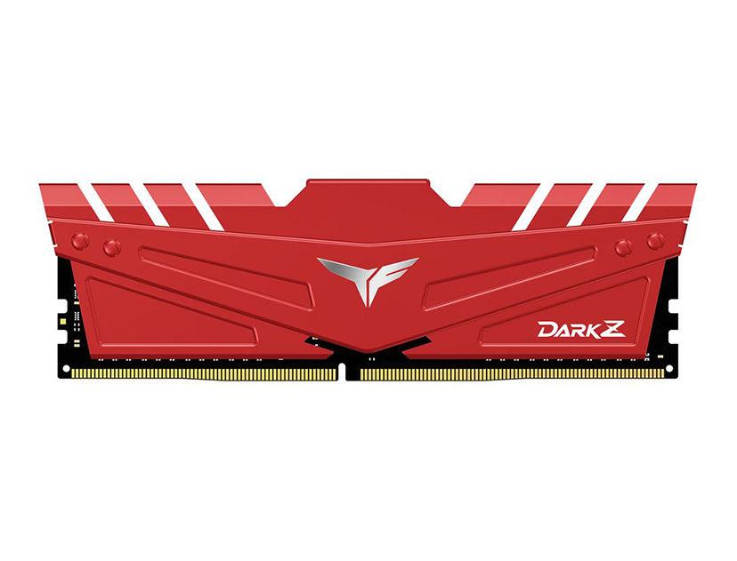 MEM. RAM TEAMGROUP T-FORCE DARK Z DDR4 8GB/2666 ( TDZRD48G2666HC15B01 ) ROJO