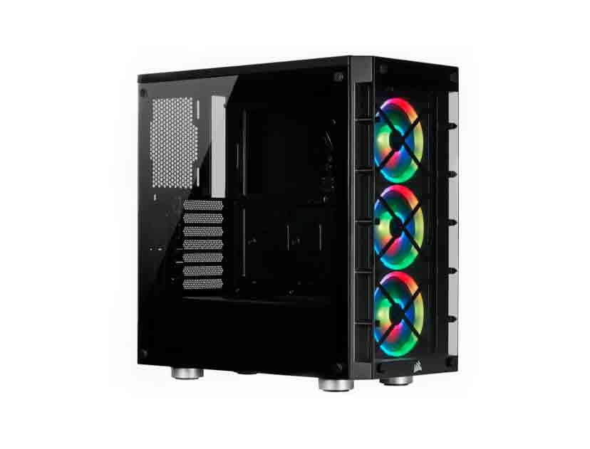 CASE CORSAIR ICUE CRYSTAL 465X RGB ( CC-9011188-WW ) S/ FUENTE | NEGRO | 1 PANEL