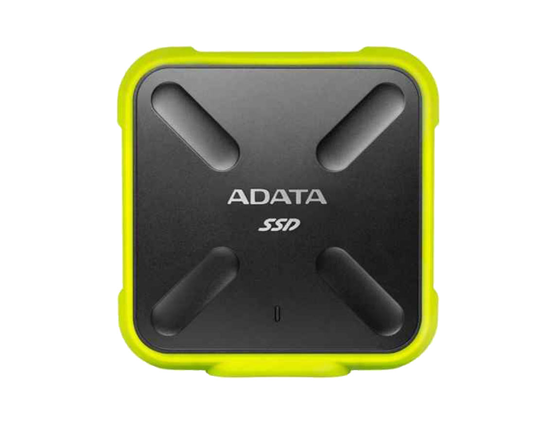 SSD EXTERNO SD700 ADATA 512GB ( ASD700-512GU31-CYL ) NEGRO C/ AMARILLO