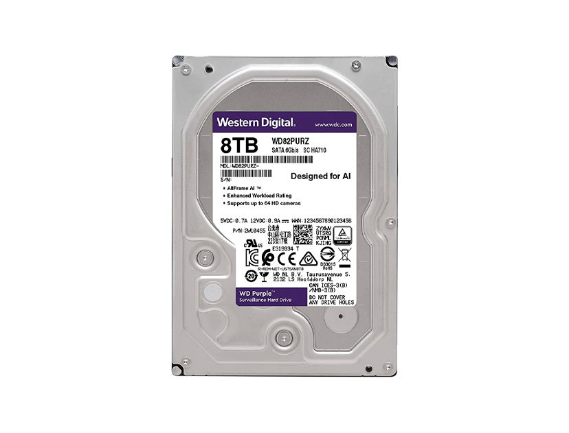 HDD  WESTER DIGITAL 8TB ( WD82PURZ ) PURPURA | 256MB | 7200RPM