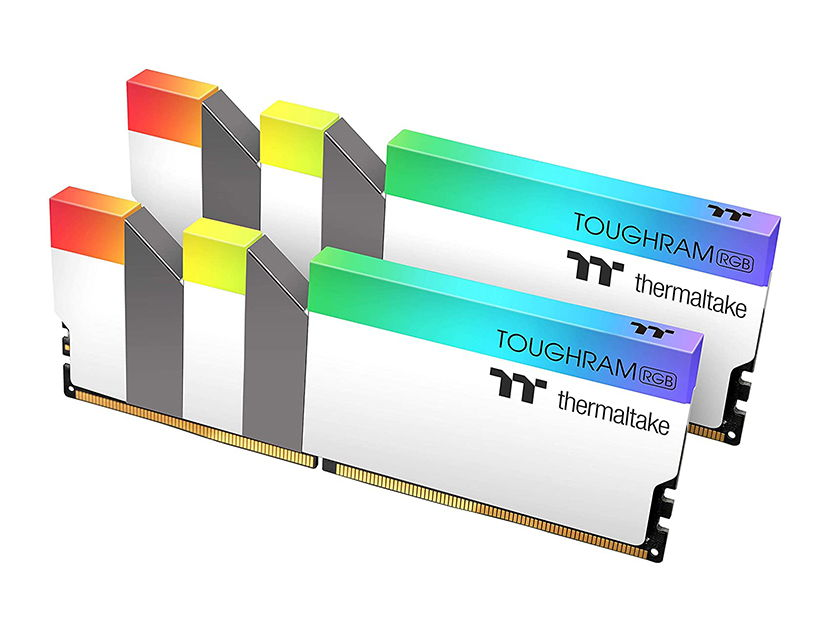 MEM. RAM THERMALTAKE TOUGHRAM DDR4 16GB(2X8)/4000 ( R022D408GX2-4000C19A ) BLANCO | LED -RGB