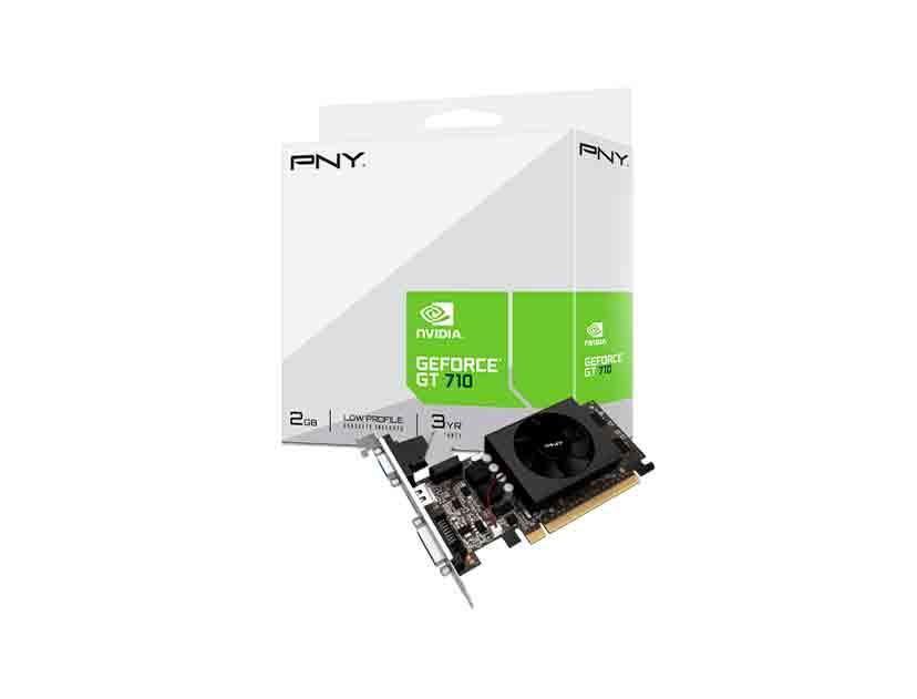 TARJ. VIDEO PNY GEFORCE GT 710 2GB DDR3 ( VCGGT7102XPB ) 64 BIT