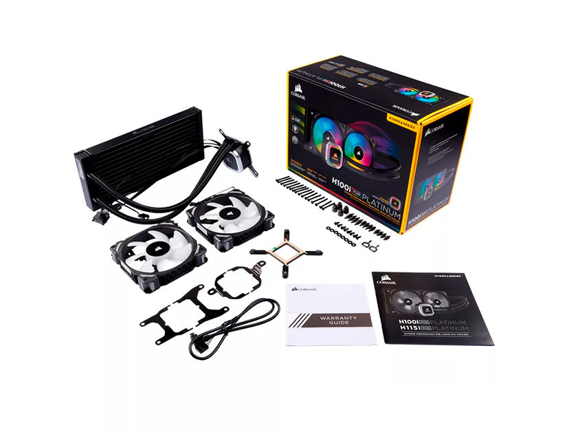 SISTEMA DE ENFRIAMIENTO LIQUIDO CORSAIR H100I RGB ( CW-9060039-WW ) LED- RGB